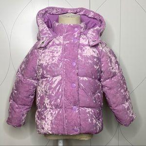 Gap ColdControl Max Velvet Puffer violet tulle 4T